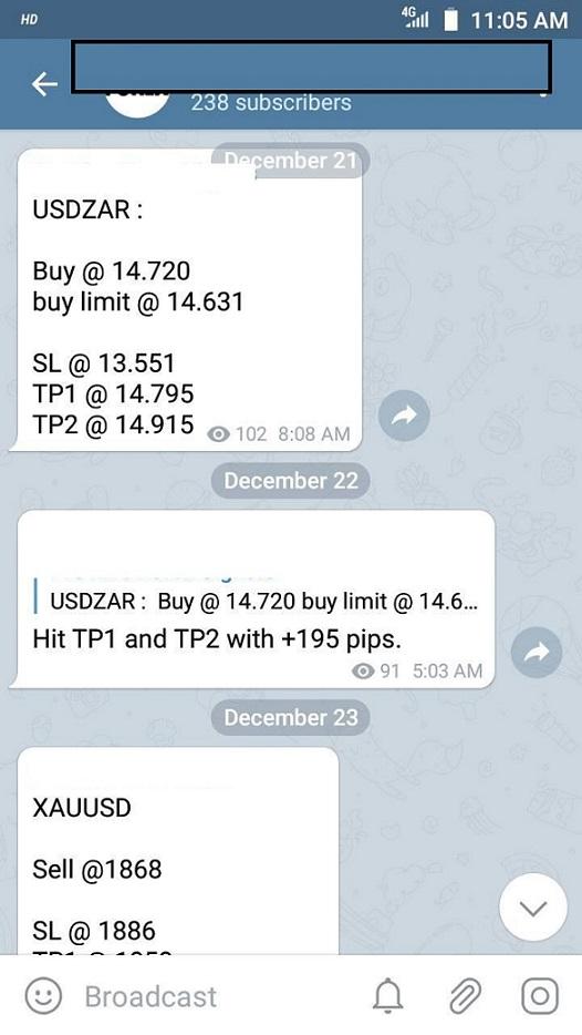 Signaux de trading Signaux Telegram