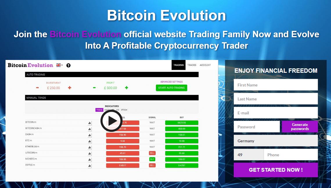 Bitcoin Evolution Comment ouvrir un compte?