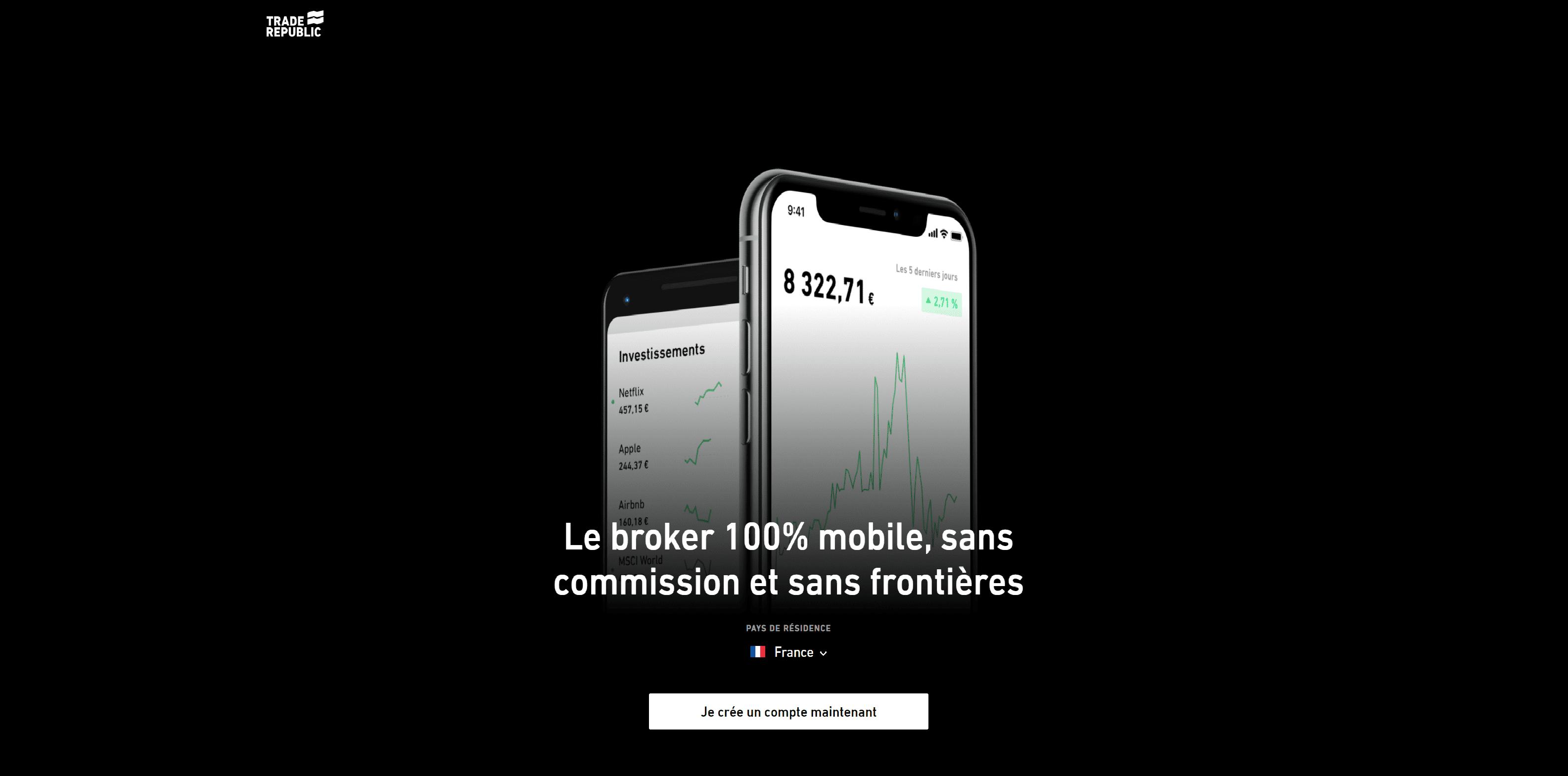 Trade Republic Ouvrir un compte mobile