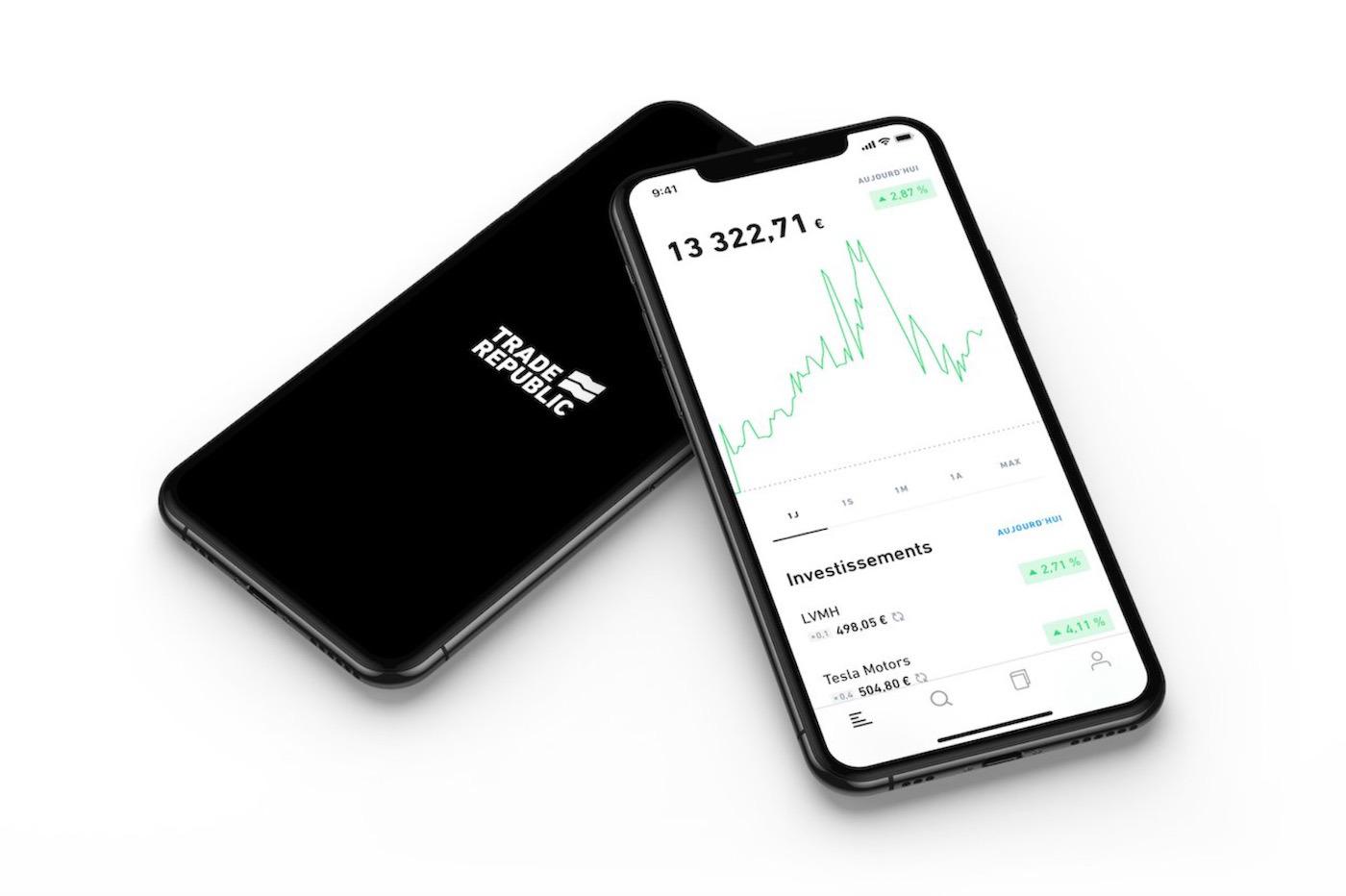 Trade Republic Plateforme de trading Mobile