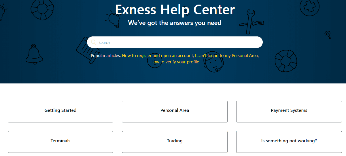Exness Support client