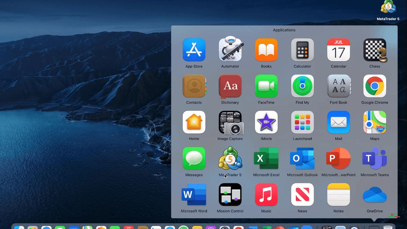 Metatrader 5 Application installée