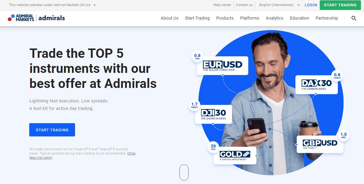 Metatrader 5 Créer un compte Démo Admiral Markets