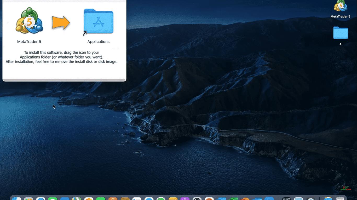 "Metatrader 5 Déplacer ""Dossier d'applications"""