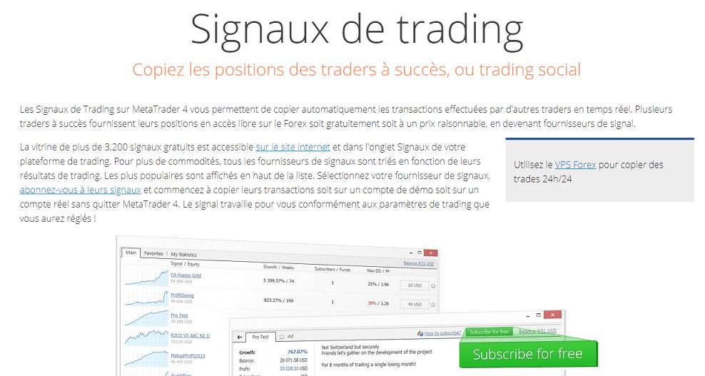 Signaux de trading manuels Instructions