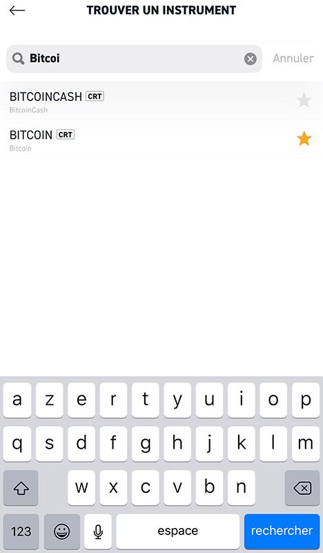 Acheter Bitcoin sur mobile avec xStation