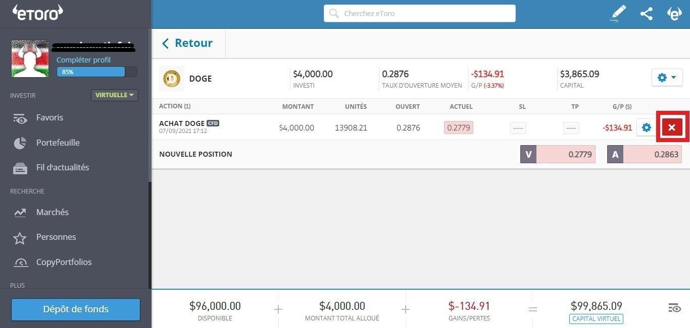 Dogecoin Investissement DOGE sur eToro