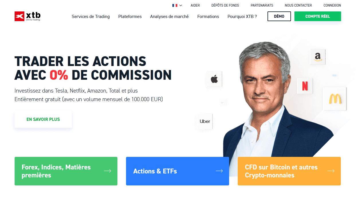 Brokers Crypto Aller à la page d'accueil du XTB