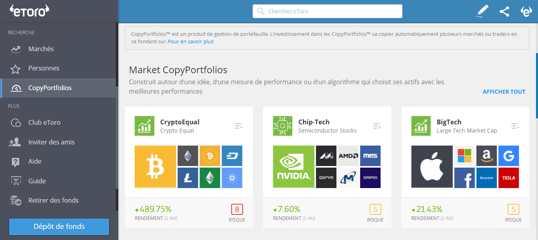 Brokers Crypto Market Copyportfolios eToro